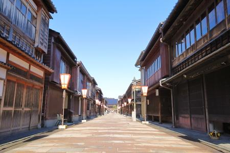 Photo pour Higashiyama teahouse old house street Kanazawa Japan - image libre de droit