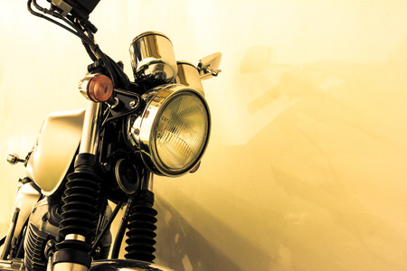 Photo for vintage Motorcycle detail, vintage color style - Royalty Free Image