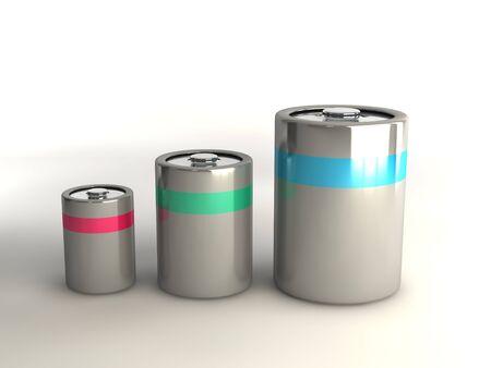 Set of three batteries - graduated sizes