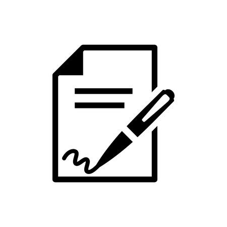 Illustration pour signing contract  icon - image libre de droit
