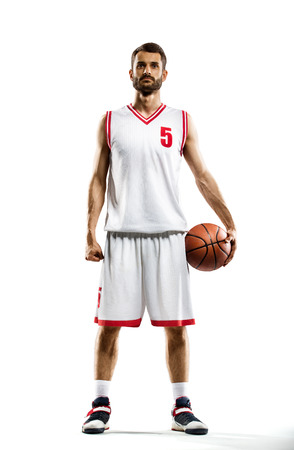 Basketball player isolated on white