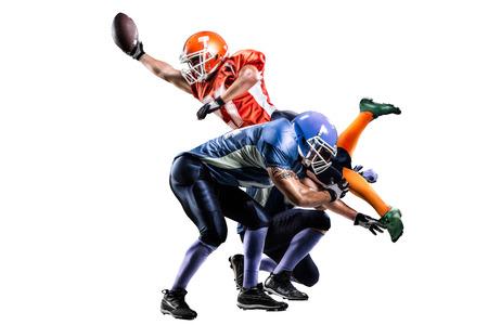 Foto de American football player in action on the stadium - Imagen libre de derechos