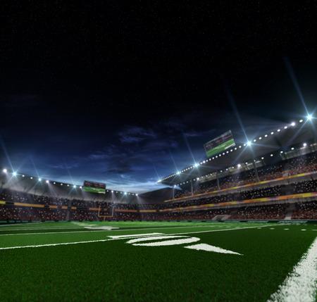 Foto de Grand american football stadium befor mach at the night - Imagen libre de derechos