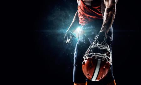Foto de American football sportsman player in stadium - Imagen libre de derechos