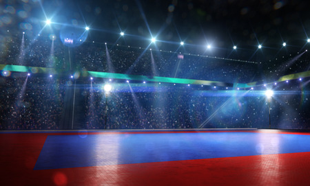 Photo pour Clean grand combat arena in bright lights background - image libre de droit