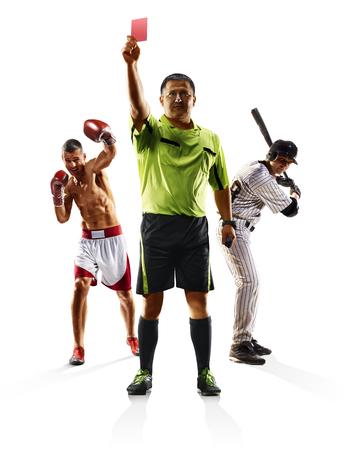 Multi sport collage soccer baseball boxing