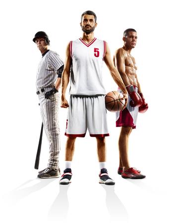 Multi sport collage basketball baseball boxing