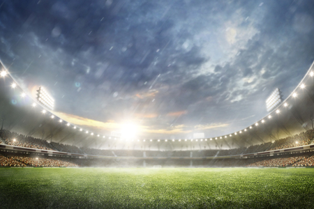 Photo for Grand multisport arena background in the rain 3d render - Royalty Free Image