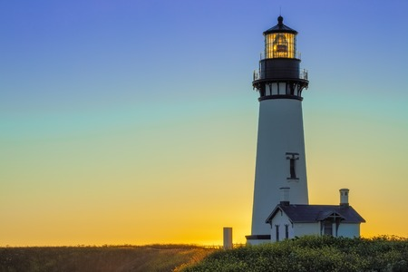 Photo for Yaquina Head Lighthouse at Sunset, Oregon, USA - Royalty Free Image