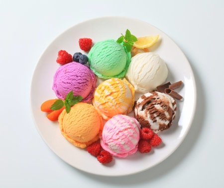Photo for Studio shot of various types of ice cream - Royalty Free Image