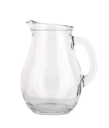 Foto de empty glass jug on white background - Imagen libre de derechos
