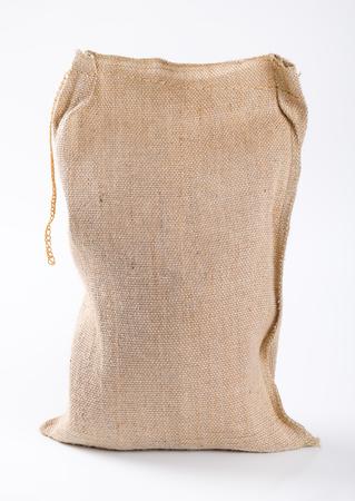 Photo for closed burlap sack on white background - Royalty Free Image