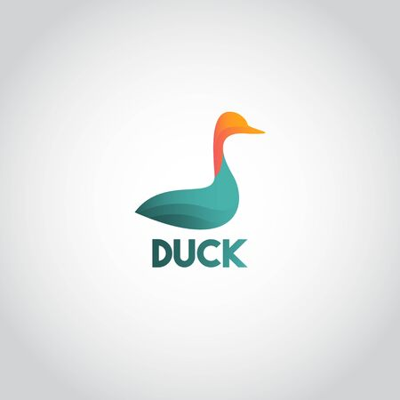 Duck Logo Icon Vector Template Design Illustration