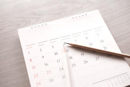 Foto de calendar with pencil in plan concept. - Imagen libre de derechos