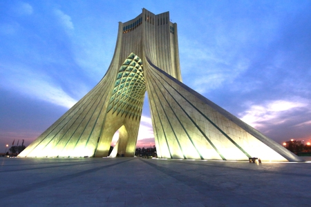 Photo for Azadi Tower located at Azadi Square, in Tehran, Iran - Royalty Free Image