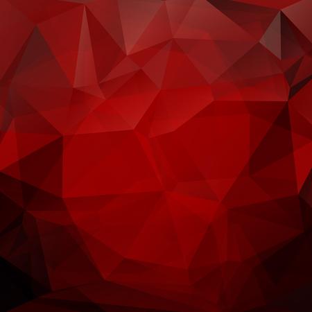 Ilustración de Polygonal monochrome abstract background with red triangles. - Imagen libre de derechos