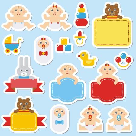 Foto für Collection of colorful baby's stickers - Lizenzfreies Bild