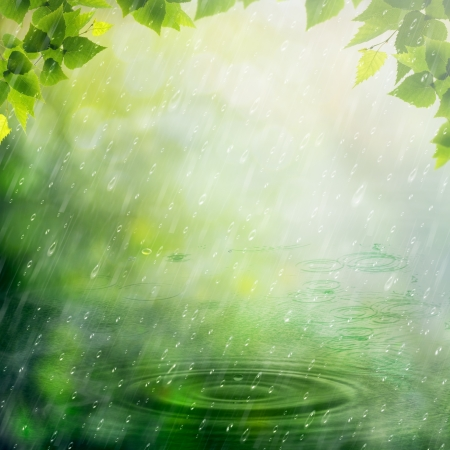 Summer rain. Abstract natural backgrounds for your design