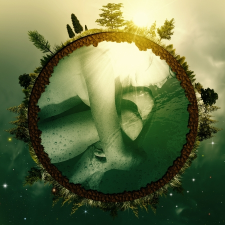 Photo for Embryo Earth. Abstract environmental backgrounds for your design - Royalty Free Image
