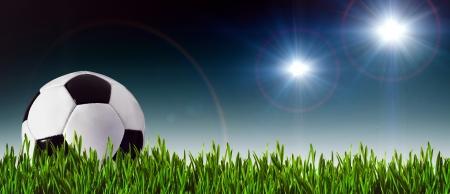 Foto de Football and soccer banner for your design - Imagen libre de derechos