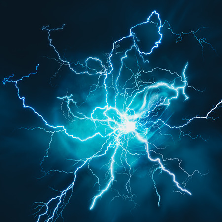 Photo pour Electric storm. Abstract science and power industry backgrounds - image libre de droit