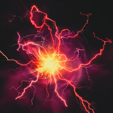 Foto de High voltage strike, abstract technology and science backgrounds - Imagen libre de derechos