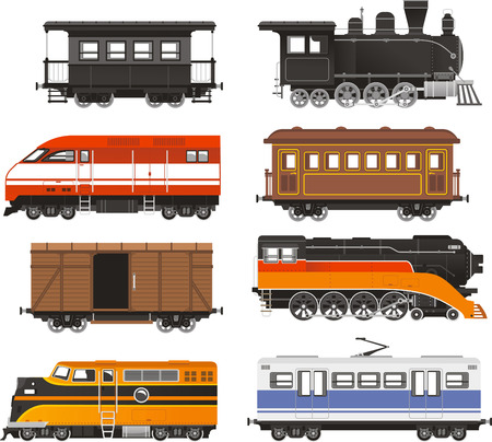 Train Locomotive Transportation Railway Transport vector illustration.
