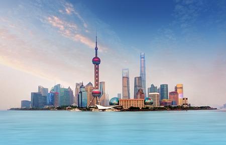 Photo pour Shanghai skyline - cityscape, China - image libre de droit