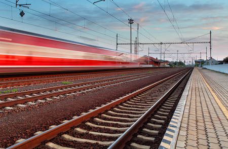 Photo for Speed Train in station - Royalty Free Image