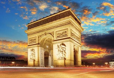 Photo pour Paris, Arc de Triumph, France - image libre de droit