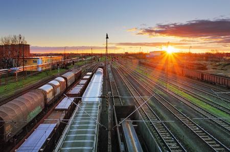 Foto per Cargo Transportation - Train - Immagine Royalty Free