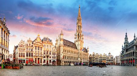 Foto de Brussels - Grand place, Belgium - Imagen libre de derechos