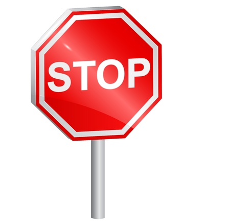 Illustration for Vector illustration of Stop sign, 3d. - Royalty Free Image