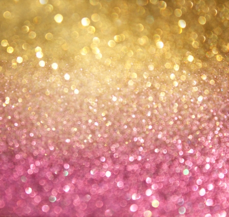 Photo for gold and pink abstract bokeh lights  defocused background   - Royalty Free Image