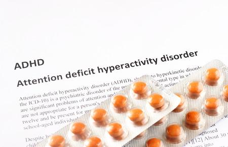 Foto de Attention deficit hyperactivity disorder or ADHD  medical or healthcare background - Imagen libre de derechos