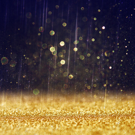 Photo for glitter vintage lights background  light gold and black  defocused    - Royalty Free Image