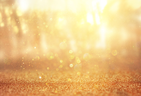 Photo for abstract photo of light burst among trees and glitter bokeh lights  filtered image and textured  image is blurred  - Royalty Free Image