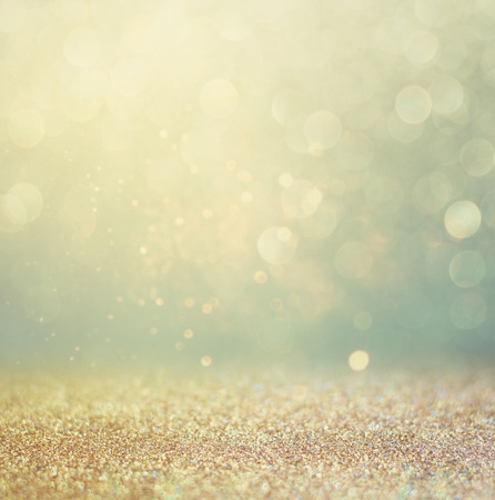 Photo pour glitter vintage lights background. gold, silver, blue and black. de-focused. - image libre de droit