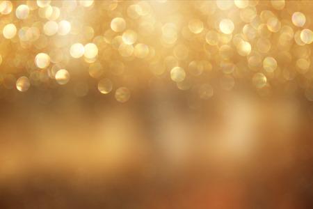 Photo pour abstract background of golden bokeh lights. - image libre de droit