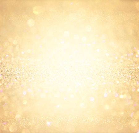 Photo for glitter vintage lights background. abstract gold background . defocused - Royalty Free Image