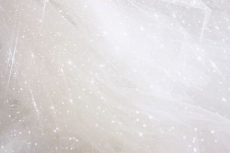 Foto de Vintage tulle chiffon texture background with glitter overlay. wedding concept - Imagen libre de derechos
