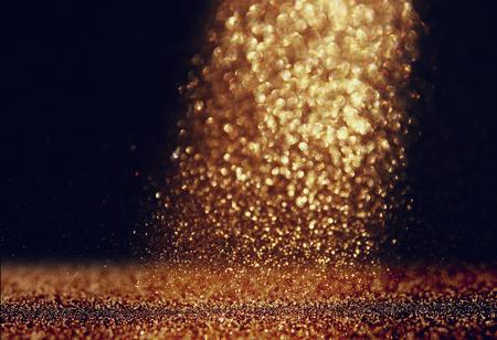 Photo pour glitter vintage lights background. gold and black. defocused - image libre de droit