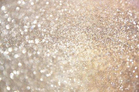 Photo pour glitter vintage lights background. gold, silver, and white. de-focused. - image libre de droit