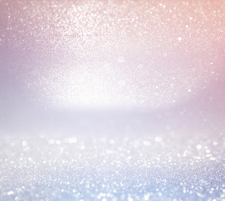 Photo for glitter vintage lights background. light silver, and pink. defocused. - Royalty Free Image