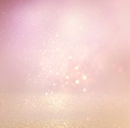 Foto de glitter vintage lights background. light silver, purple and pink. defocused. - Imagen libre de derechos