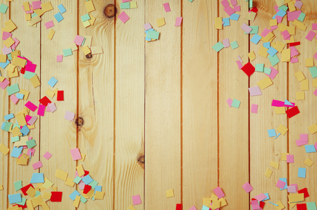 Photo for party background with colorful confetti - Royalty Free Image