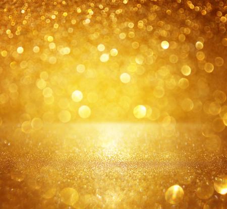 Foto de glitter vintage lights background. gold, silver. defocused - Imagen libre de derechos