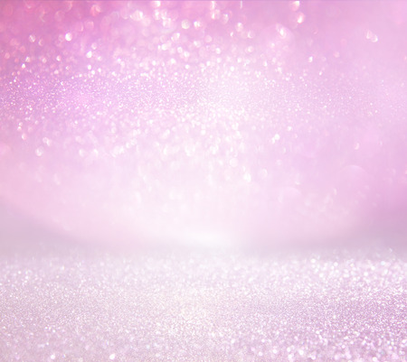 Photo pour glitter vintage lights background. pink and silver. defocused - image libre de droit