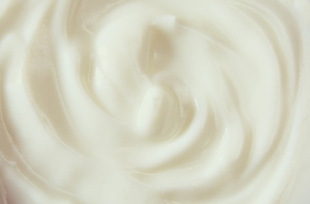 Photo for Top view image of yogurt swirl. - Royalty Free Image
