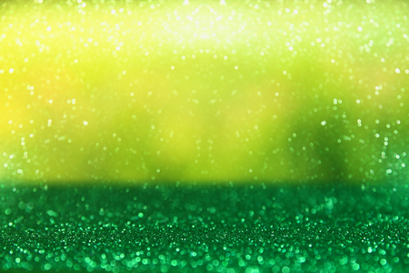 Photo for glitter green vintage lights background. defocused. - Royalty Free Image